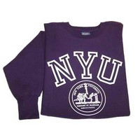 New York University Bookstores - NYU Crew Sweatshirt with Seal