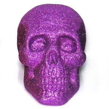 7'' Purple Glitter Styrofoam Skull at Joann.com
