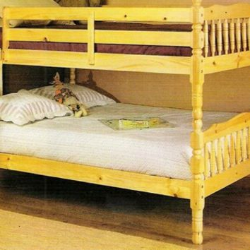 Acme 02290 Natural finish wooden convertible full / full bunk bed set