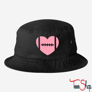 football heart bucket hat
