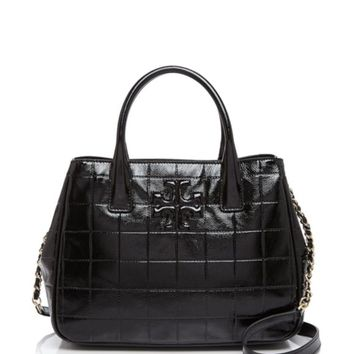 Tory Burch Marion Quilted Patent Tote | Bloomingdales's