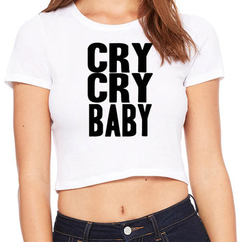 Cry Cry Baby Crop T-shirt