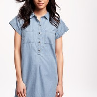 Chambray Shirt Dress for Women | Old Navy
