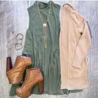 Shop Priceless Laila Dress - Olive