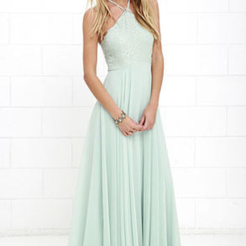 Everlasting Enchantment Sage Green Maxi Dress