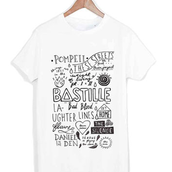 Bastille Quote Lyric tshirt for merry christmas and helloween