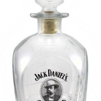 Jack Daniels Cameo Design Glass Whiskey Decanter