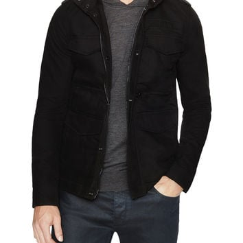 G-Star Men's Field Hooded Jacket - Black -