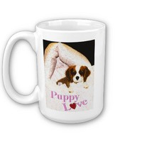 Puppy Love Cavalier King Charles Spaniel Mug from Zazzle.com