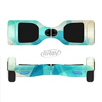 The Vector Abstract Shaped Blue Overlay V2 Full-Body Skin Set for the Smart Drifting SuperCharged iiRov HoverBoard