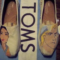 Pocahontas, John Smith Disney Toms. New World Old World, Ready to Ship