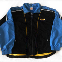 Vintage 90s Nike Big Logo Spell Out Hip Hop Style Blue Windbreaker Tracksuit top Jacket Size M