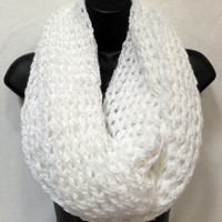 Valentine's Crochet Infinity/ Circle Scarf. Girls and Women's Crochet Scarf