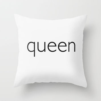 queen (pillow) Throw Pillow by Anonymous