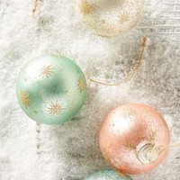 Sparkling Star Ornament Set by Anthropologie Multi Set Of 4 Holiday