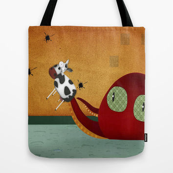 why cows have black spots Tote Bag by La Margarita Roja