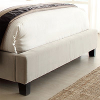 Home Creek Sascha Velvet Tufted Queen Bed w/ 2 Rectangle Nightstands