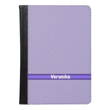 Violet small plaid pattern. Add name. iPad Air Case