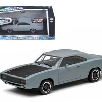"""Dom's 1970 Dodge Charger R-T Primered Grey """"Fast and Furious"""" Movie (2009) 1-43 Diecast Car Model by Greenlight"""