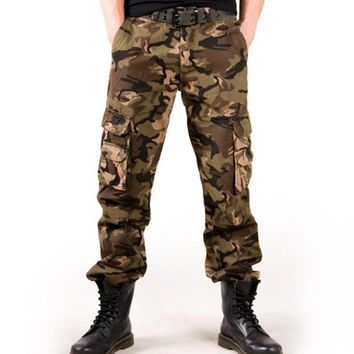 High Quality Casual Men Army Long Cargo Pants Autumn Spring Winter Military Camouflage Men Pants