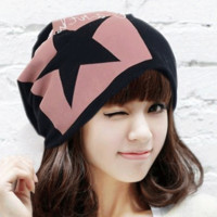 Star and Letter Print Tie-Dye Piles Cap