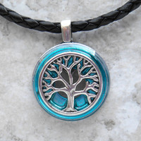 tree of life necklace: blue - celtic jewelry - tree necklace - elven jewelry - forest jewelry - unique gift - nature necklace
