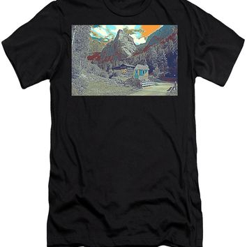 Swiss Alps - Men's T-Shirt (Athletic Fit)