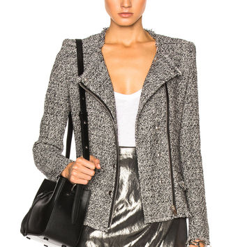 IRO Carlota Jacket in Black & White | FWRD