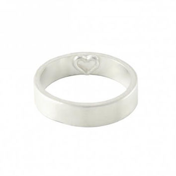 Imprint Heart Ring | 999 Sterling Silver Ring | Couples Rings