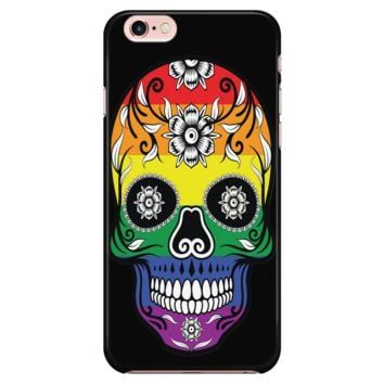 LGBT iPhone Case Rainbow Calavera Catrina Skull