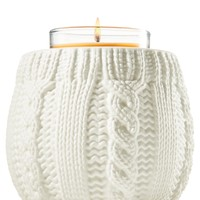 Ceramic Cable Knit Ceramic Cable Knit Mini Candle Holder   - Slatkin & Co. - Bath & Body Works