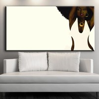 XX708 Wall Art African American Black Abstract Portrait Art Canvas Afro Women Poster Canvas Painting for Room Wall Decor
