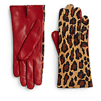 Maison Fabre - Suede & Leather Gloves - Saks Fifth Avenue Mobile
