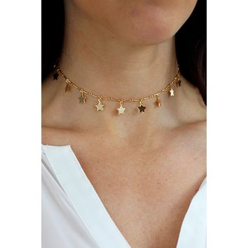 Star Dust Choker Necklace - Christine Elizabeth Jewelry