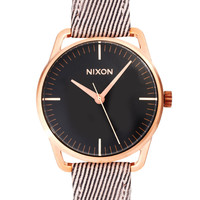 Nixon Chocolate Leather Strap Watch at asos.com