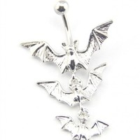 Bat Girl Belly Button Ring