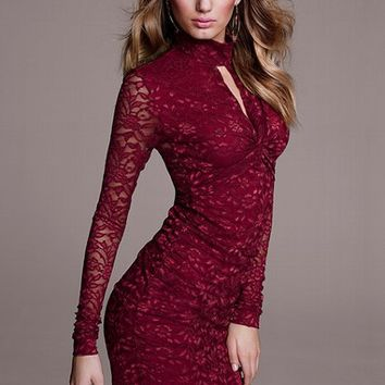 Knot Front Lace Dress
