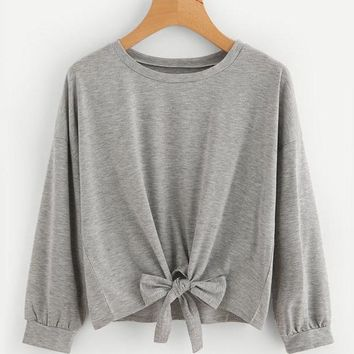 Ultra Light Long Sleeve Front Knot