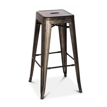 Oxford Metal Counter Stool GUNMETAL - SET OF 4