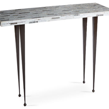 Mosaic Console, Light Gray, Console Table