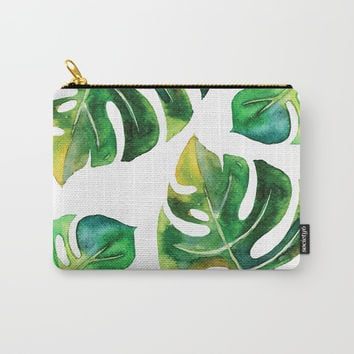 Wildness In Monstera Carry-All Pouch by cadinera