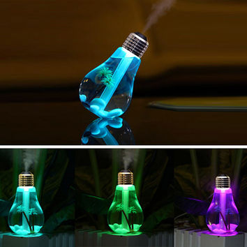 New 400ml Mist ultrasonic Humidifier Home Aroma LED Lamp Air Humidifier Diffuser Purifier Atomizer Warm Light diffuser bottle