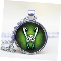Vintage  pendant  Loki God of Mischief Helmet Pendant Necklace  for men for her