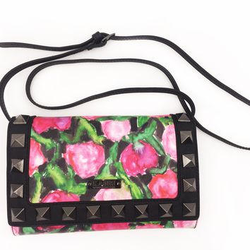 Bleeding Roses Crossbody Wallet