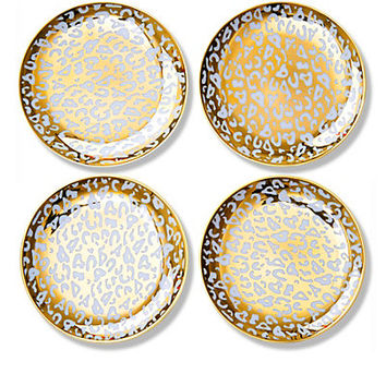Decorative Dishes - Gold Leopard Appetizer Plates | C. Wonder