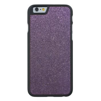 Cool Awesome Purple Glitter Carved® Maple iPhone 6 Case