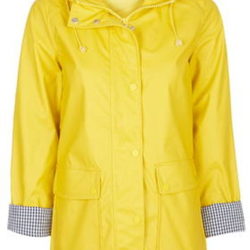 Yellow Plastic Rain Mac - Trench Coats & Macs - Jackets & Coats - Clothing