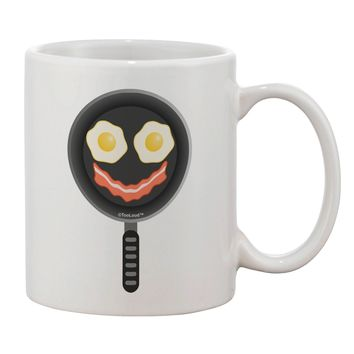 Eggs and Bacon Smiley Face Printed 11oz Coffee Mug by TooLoud