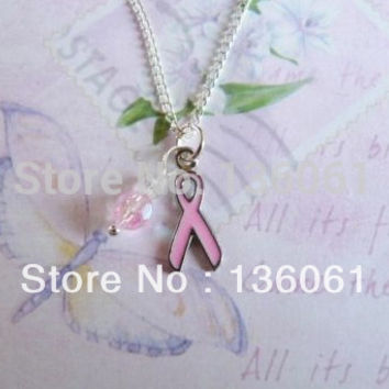 PINK CAUSE CANCER RIBBON DEER Wings