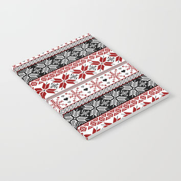 Winter Fair Isle Pattern Notebook by Tanyadraws